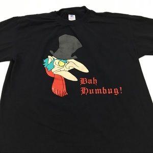 Other - Vintage Scrooge Humbug Tee Christmas T Shirt XL